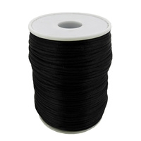 Nylon Cord - Round - Black - 1.5mm