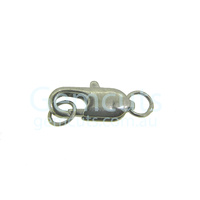 Parrot Clasp with Jump Rings - Rhodium Plated