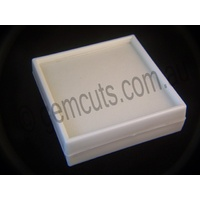 Plastic Display Box with Glass Lid 90mm x 90mm