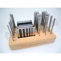 Swage Block & Punch Set in Wooden Stand