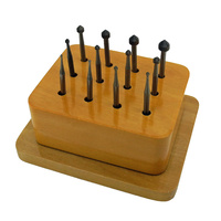 Setting Burr Set of 12 in Wooden Stand (1.00mm to 5.00mm)