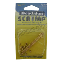 Beadalon Crimp Screwdriver and Findings Kit - Gold Plated