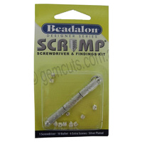 Beadalon Crimp Screwdriver and Findings Kit - Silver Plated