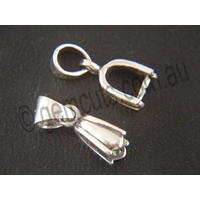 Pendant Pinch Clasp Fancy with Bail - Medium