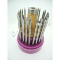 Stone Setting Beading Tool Set with Hardwood Handle & Stand 23 pc