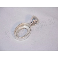 Sterling Silver Pendant 14mm x 10mm (Fixed Bail)