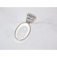 Sterling Silver Pendant 24mm x 14mm (Fancy Bail)