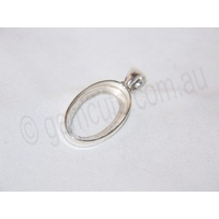 Sterling Silver Pendant 24mm x 14mm (Swing Bail)