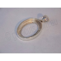 Sterling Silver Pendant 25mm x 18mm (Swing Bail)