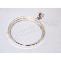 Sterling Silver Pendant 38mm Round (Fixed Bail)