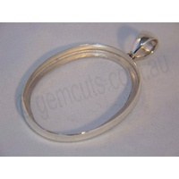 Sterling Silver Pendant 40mm x 30mm (Swing Bail)