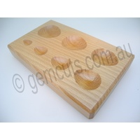 Wooden Doming Block - Pear Shapes