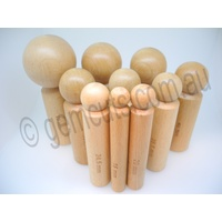 Wooden Doming Punch Set of 10 - Extra Large