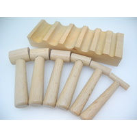 Wooden U-Channel Forming Block & Punch Set