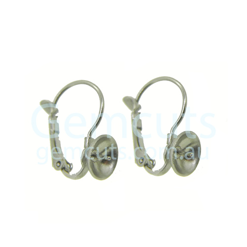 Lever-Back Ear Wire with Post Pair – Platinum