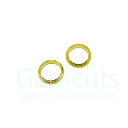Half Round Gold Colour Jump Ring ID 5.5mm