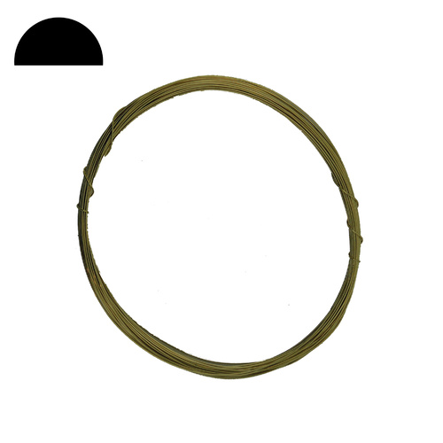 Brass Wire - Half Round - 0.5mm - 10 Metres