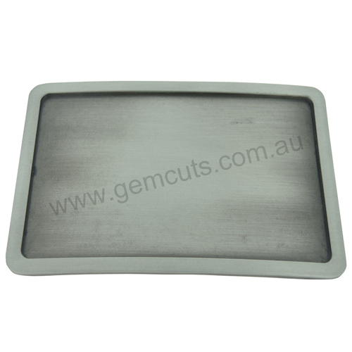 Blank Belt Buckle - Antique Silver Rectangle