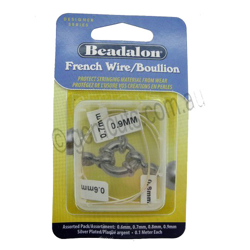 Beadalon French Wire/Boullion - Silver Plated