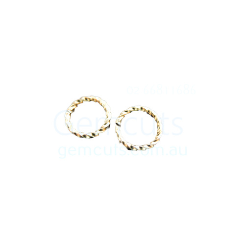 10mm Twisted Open Jump Ring Gold Colour