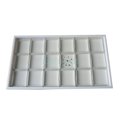 True View Cases 18 in Tray - White