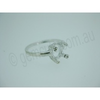 Ladies Oval 8mm x 6mm Double Prong Ring Setting - Size 8