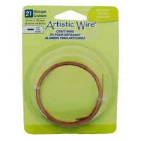 Flat Artistic Wire - Bare Copper 21 Gauge