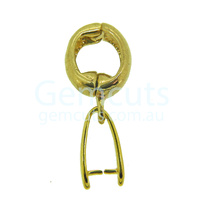 Pinch Clasp with Opening Magnetic Pendant Bail - Gold