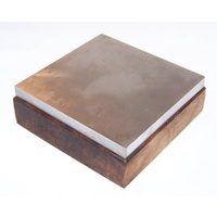 Steel Bench Block on Wooden Base 100mm x 100mm