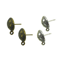 Antique Look Ear Stud Pair With Jump Ring