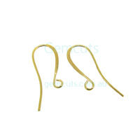 Hook Ear Wire Pair 26mm Gold Colour