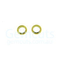 Half Round Gold Colour Jump Ring ID 3.4mm