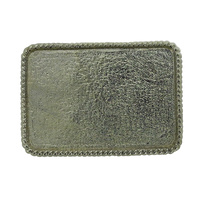 Blank Belt Buckle - Rectangle Rope Edge