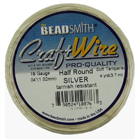 Craft Wire 18GA Half Round
