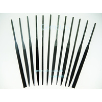 Steel Needle Files 140mm - Set of 12 - Cut 0