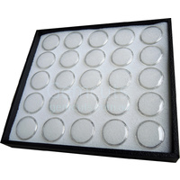 Gem Pods 30mm - White - Set of 25 - With Tray