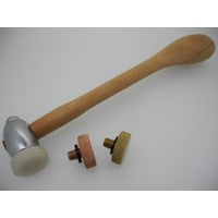 Hammer With 3 Interchangeable Heads
