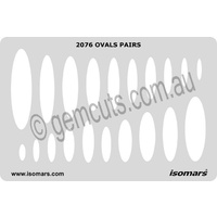 Metal Clay Design Template - Ovals
