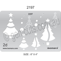 Metal Clay Design Template - Christmas Trees