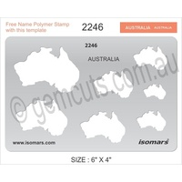 Metal Clay Design Template - Maps of Australia