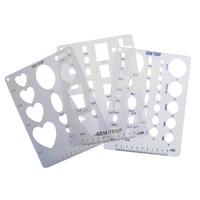 Gem Template Plastic - Set of 3