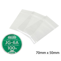 JG6A Ultra Clear Plastic Zip Lock Bags - 100 Pack
