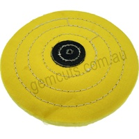 Yellow Muslin Buff 150mm x 50 Fold