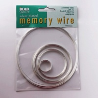 Memory Wire Assorted Sizes - Silver Colour