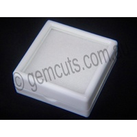 Plastic Display Box with Glass Lid 40mm x 40mm white