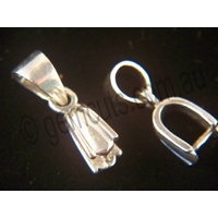 Pendant Pinch Clasp Fancy with Bail - Small