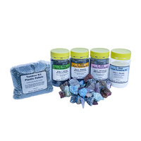 4 Step Tumbling Kit with Plastic Pellets & Rough Stones