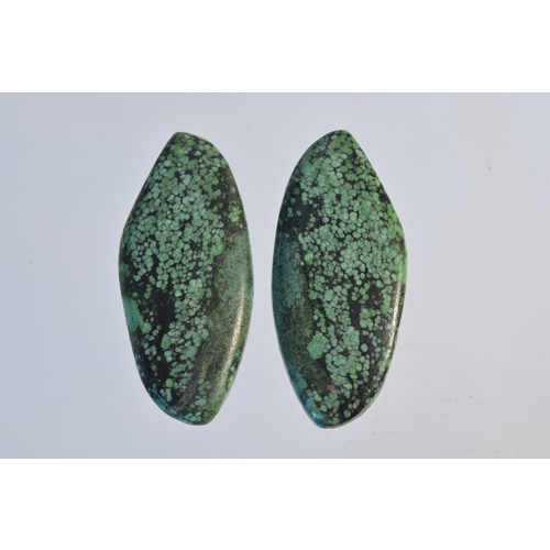 Turquoise Freeform Cabochon Pair