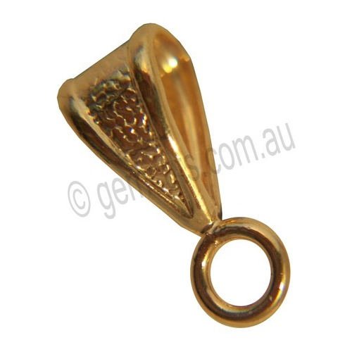 Bail with Fixed Jump Ring - 6mm - Gold Colour
