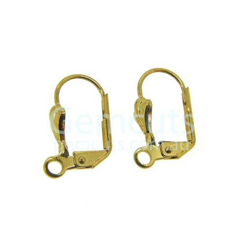 Fancy Lever-Back Ear Wire Pair - Gold Colour